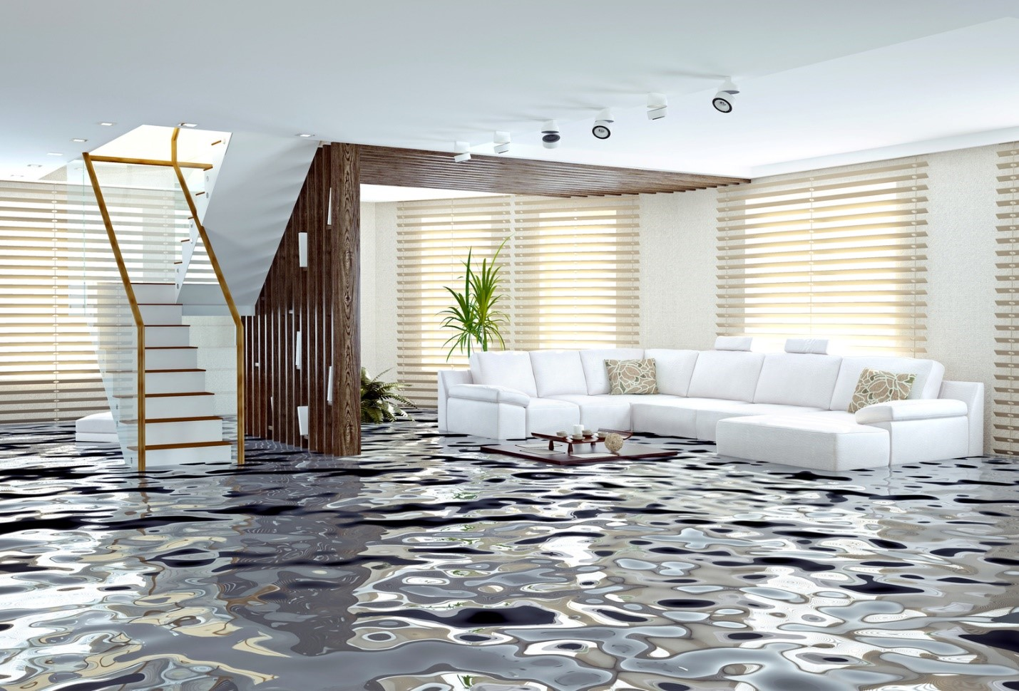 How do you intercept water damage in your home?